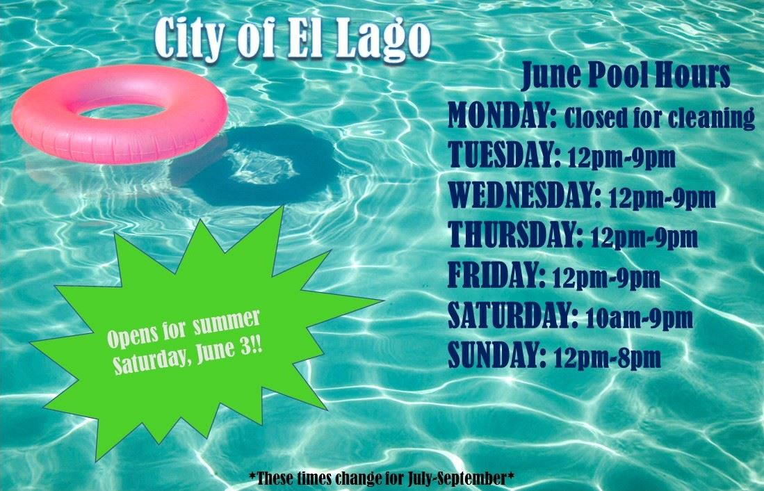 June Pool Hours
