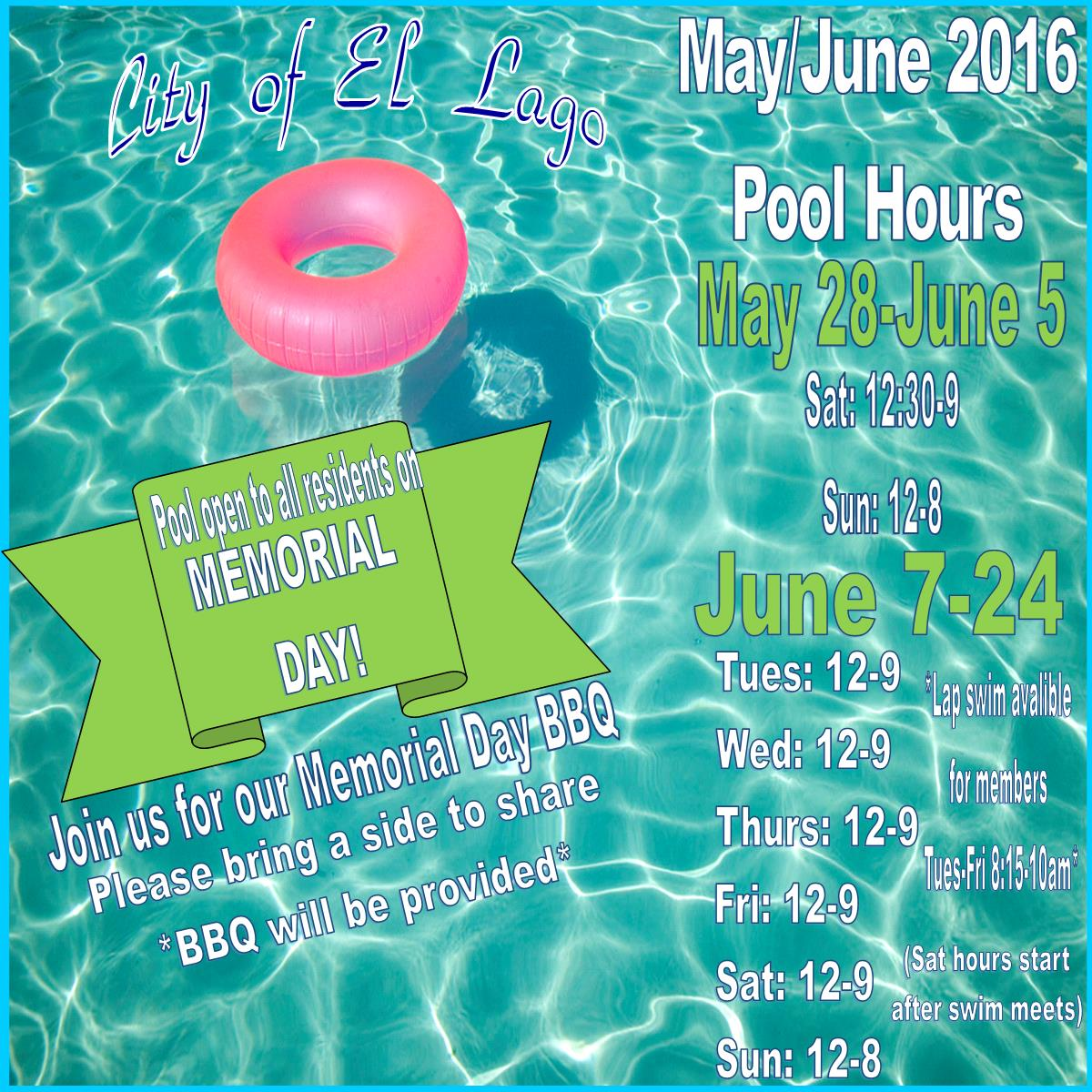May pool hours